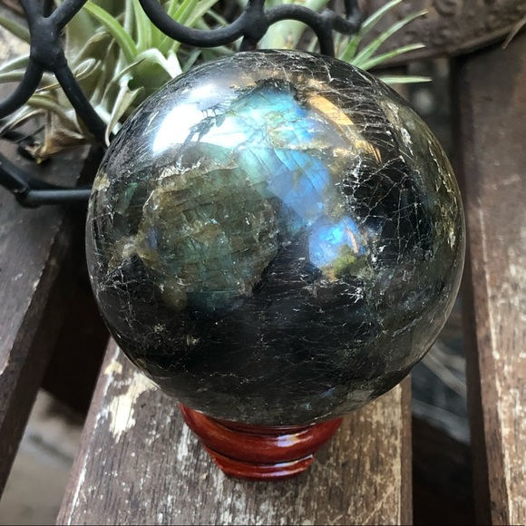 Large labradorite sphere pretty flashes